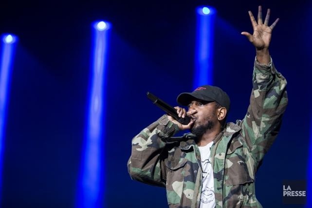 Kendrick Lamar, samedi, à Osheaga... (PHOTO ÉDOUARD PLANTE-FRECHETTE, ARCHIVES LA PRESSE)