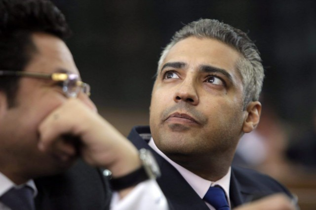Mohamed Fahmy (notre photo), l'Australien Peter Greste et l'Égyptien... (PHOTO AMR NABIL, ARCHIVES AP)