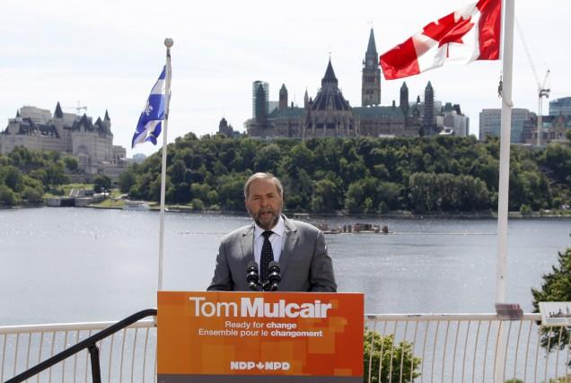 Thomas Mulcair a lancé sa campagne aujourd'hui, au... (La Presse Canadienne)