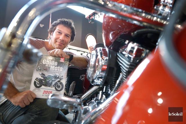 Bertrand Gahel, l'auteur du Guide de la moto... (Le Soleil, Yan Doublet)