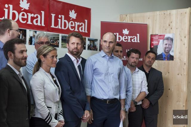Des onze candidats libéraux présents dimanche, celui dans... (Le Soleil, Caroline Grégoire)