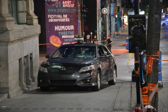 Le chauffeur de taxi aurait percuté deux jeunes... (PHOTO SYLVAIN RYAN, COLLABORATION SPÉCIALE)