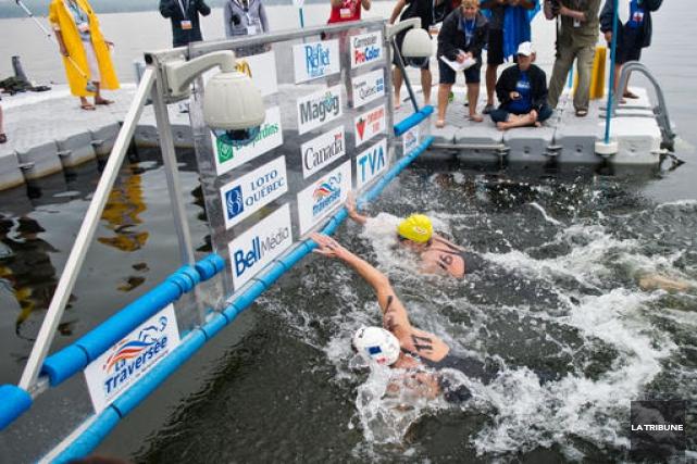 Les 18 nageurs professionnels présents à Magog cette fin de semaine ont livré... (Imacom, Jessica Garneau)