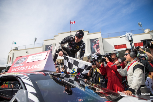Kevin Lacroix a remporté l'épreuve NASCAR Canadian Tire.... (Photo: Olivier Croteau Le Nouvelliste)