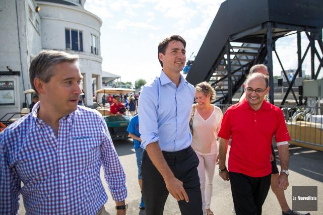 Le chef du Parti libéral du Canada, Justin... (Photo: Olivier Croteau Le Nouvelliste)