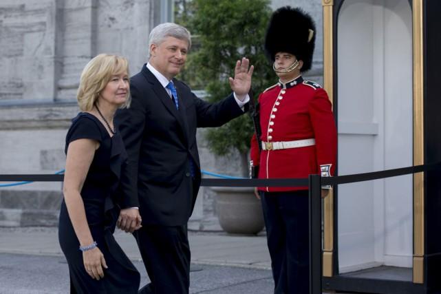 Le 2 août 2015, Stephen Harper se rendait... (La Presse canadienne)