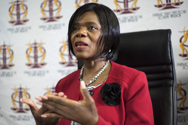 La médiatrice chargée de veiller au bon usage des deniers publics en Afrique du... (PHOTO AFP)
