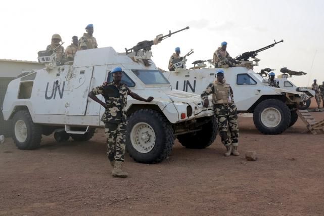 Soldats de la Minusma dans la ville de... (PHOTO REUTERS)