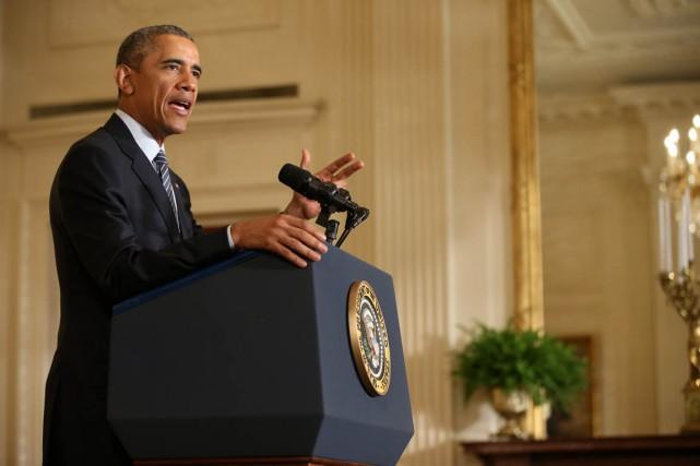 Le président Barack Obama a exposé lundi son... (Photo ANdrew Harnik, AP)