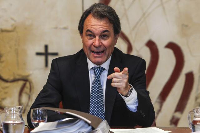 Le président de la Catalogne, Artur Mas.... (Photo Quique Garcia, AFP)