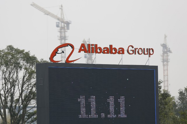 Le bénéfice net ajusté par action d'Alibaba s'est... (PHOTO ARCHIVES REUTERS)