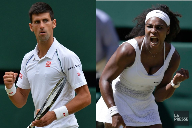 Novak Djokovic et Serena Williams... (PHOTOMONTAGE LA PRESSE)
