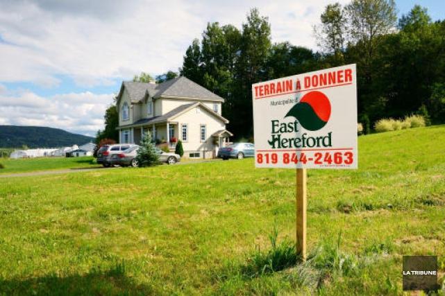 La municipalités d'EastHerefordmise sur la gratuité de terrains... (La Tribune, Maryse Carbonneau)