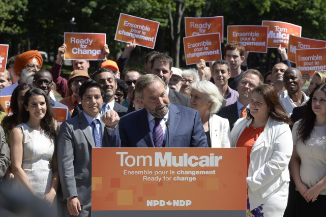 Le chef du NPD, Thomas Mulcair, était sur... (Photo Ryan Remiorz, La Presse Canadienne)