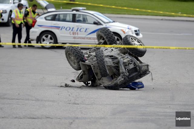 Un homme de 66 ans a été blessé... ((Photo Le Quotidien, Jeannot Lévesque))