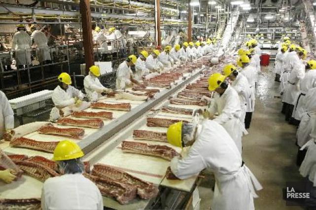 La saga de l'usine d'Olymel de Saint-Simon avait... (Photothèque La Presse)