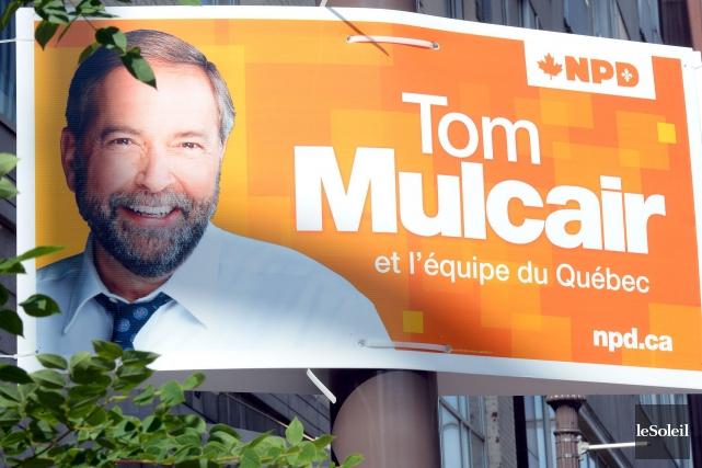 L'auteur encense le travail acharné de Thomas Mulcair,chef... (Photothèque Le Soleil, Erick Labbé)