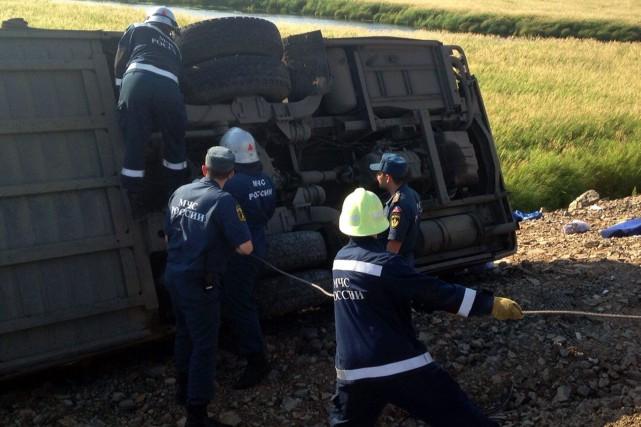 Six équipes de secours ont été dépêchées sur...