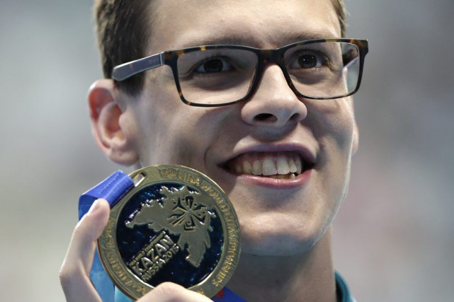 L'Australien Mitchell Larkin a remporté la médaille d'or... (Associated Press)