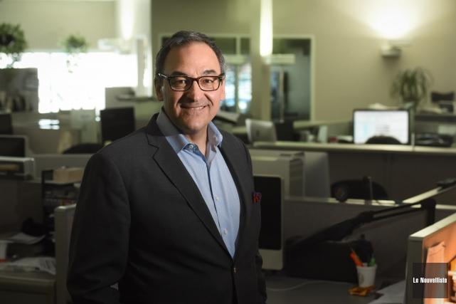 Martin Cauchon, propriétaire du Groupe Capitales Médias, lors... (Photo: François Gervais Le Nouvelliste)