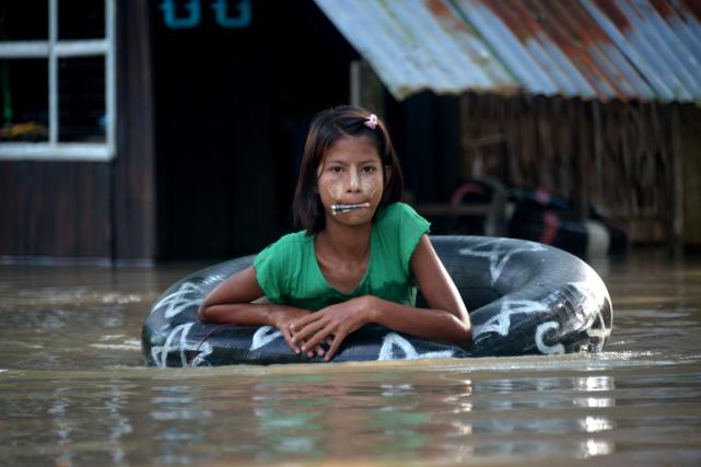 Les pluies diluviennes de ces derniers jours ont... (PHOTO AFP)
