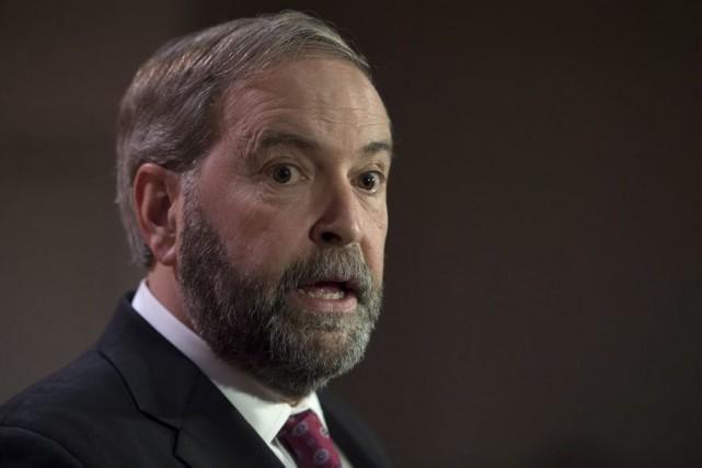 Le chef du Nouveau Parti démocratique (NPD), Thomas... (Archives La Presse Canadienne)