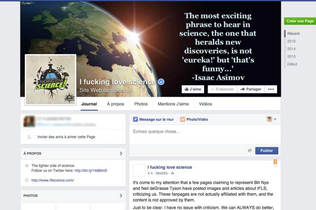 De page Facebook à site web d'actualités,I Fucking... (PHOTO TIRÉE DE FACEBOOK)