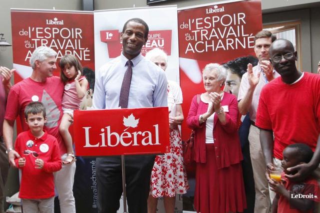 Greg Fergus, qui est le candidat libéral dans... (Simon Séguin-Bertrand, LeDroit)