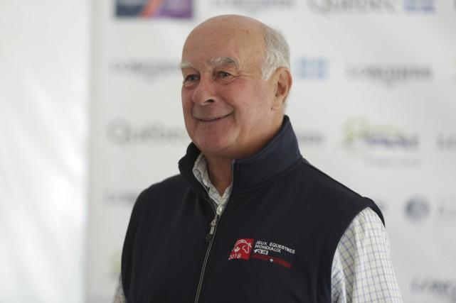 Le directeur de concours de l'International Bromont, Roger... (photo Catherine Trudeau)