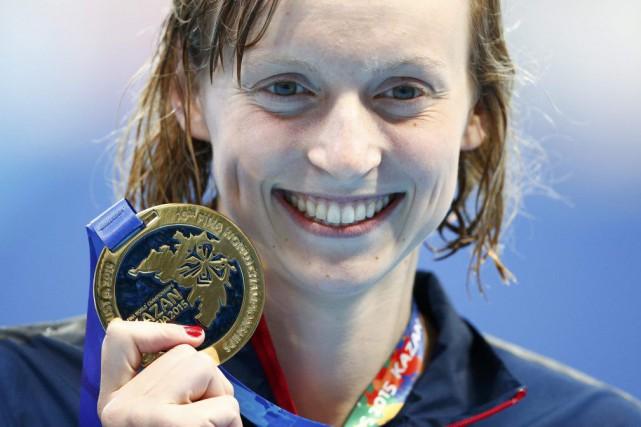 Katie Ledecky a décroché sa troisième médaille aux... (Reuters)