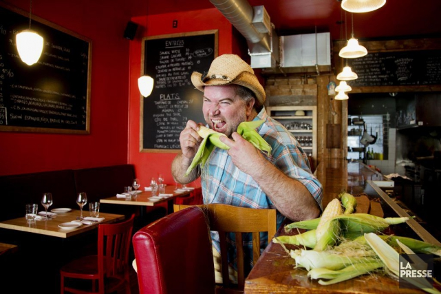 David Ferguson, chef du restaurant Gus et grand... (PHOTO ALAIN ROBERGE, LA PRESSE)