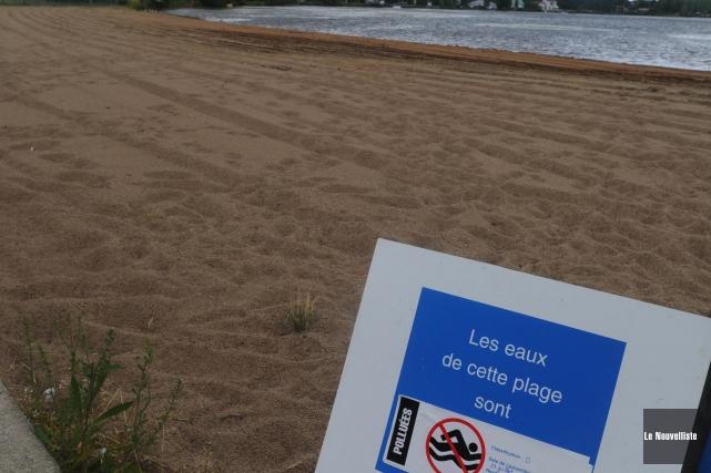 L'accès à la plage Sainte-Thècle a été interdit par le ministère du... (Photo: Sylvain Mayer Le Nouvelliste)
