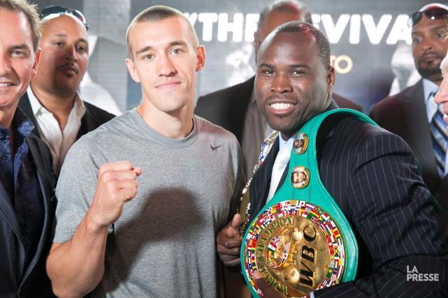 Adonis Stevenson (à droite) affrontera l'Américain Tommy Karpency... (Photo François Roy, La Presse)