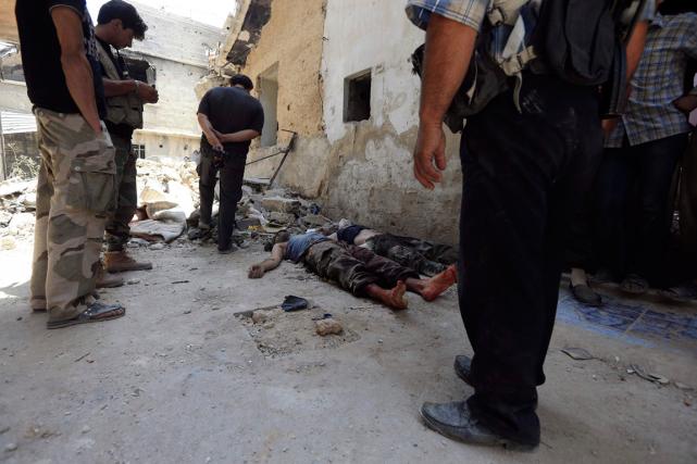 L'Observatoire syrien des droits de l'Homme (OSDH)estime que... (Photo Bassam Khabieh, Reuters)