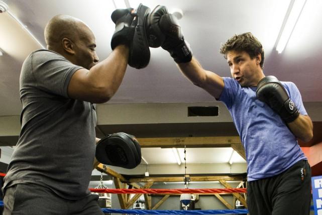 Le libéral Justin Trudeau a de son côté... (Photo Reuters)