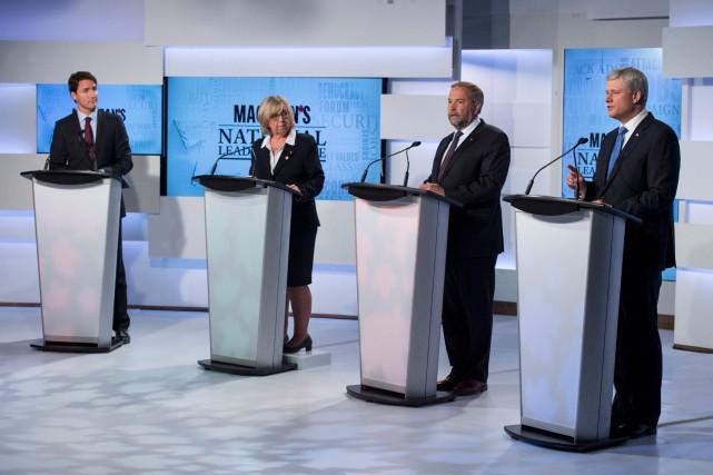 Selon notre chroniqueur Gilbert Lavoie, Thomas Mulcair (deuxième... (Photo La Presse canadienne)