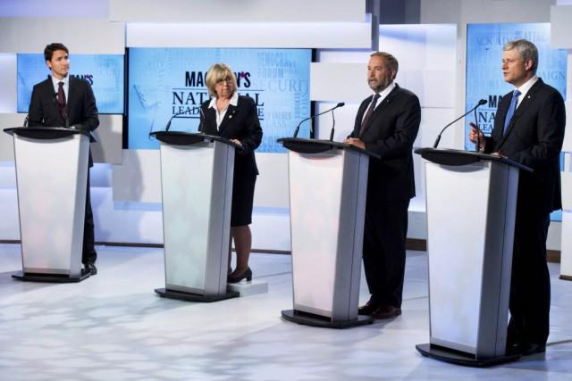 Le débat de deux heures se déroulait en... (Photo Frank Gunn, Reuters)
