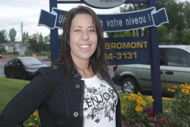 Policière depuis une quinzaine d'années, Sandy Robitaille vient... (Photo Catherine Trudeau)