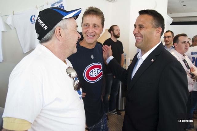 Dominic Therrien, candidat conservateur dans Trois-Rivières, a procédé... (Photo: Andréanne Lemire Le Nouvelliste)
