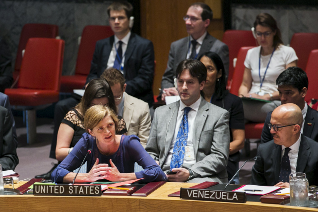 L'ambassadrice des États-Unis à l'ONU, Samantha Power.... (Photo Lucas Jackson, Reuters)