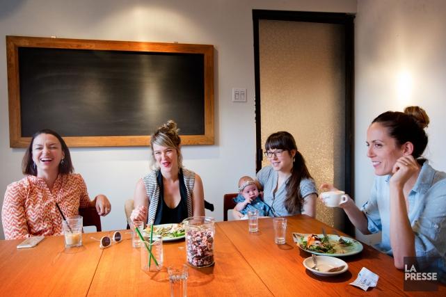(de gauche a droite) Vicky Boudreau, Eve Gravel,... (PHOTO MARCO CAMPANOZZI, LA PRESSE)
