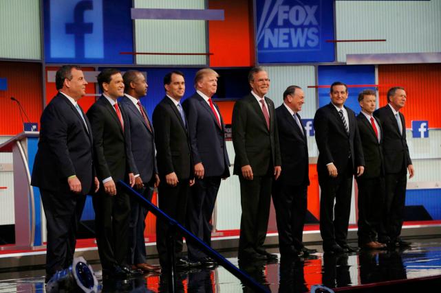 Le premier débat des primaires républicaines a eu... (Photo Brian Snyder, Reuters)