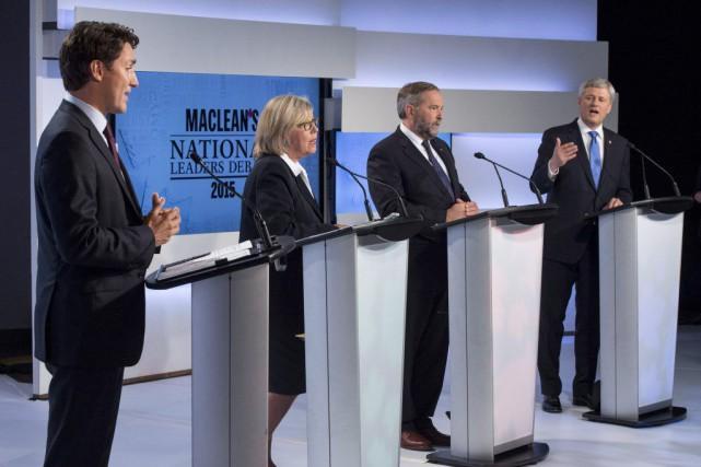 Justin Trudeau, Elizabeth May, Thomas Mulcair et Stephen...