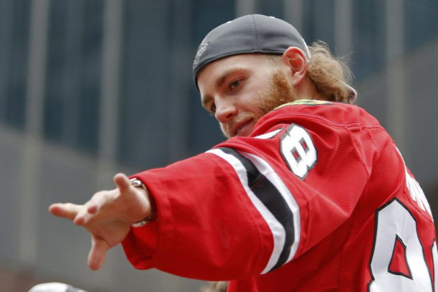 Patrick Kane fait l'objet d'une enquête pour «un incident... (PHOTO JON DURR, ARCHIVES USA TODAY SPORTS)
