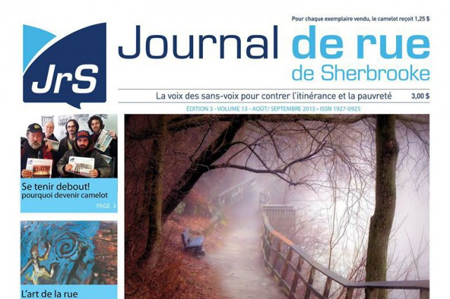 En plus d'avoir un avenir assuré, le Journal de rue de Sherbrooke s'est établi... (Photo Facebook)
