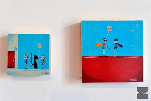 Chez Regart, une oeuvre de Pierre Girard... (Le Soleil, Pascal Ratthé)