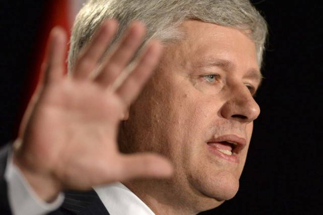 Le chef du Parti conservateur, Stephen Harper.... (Photo Sean Kilpatrick, La Presse Canadienne)