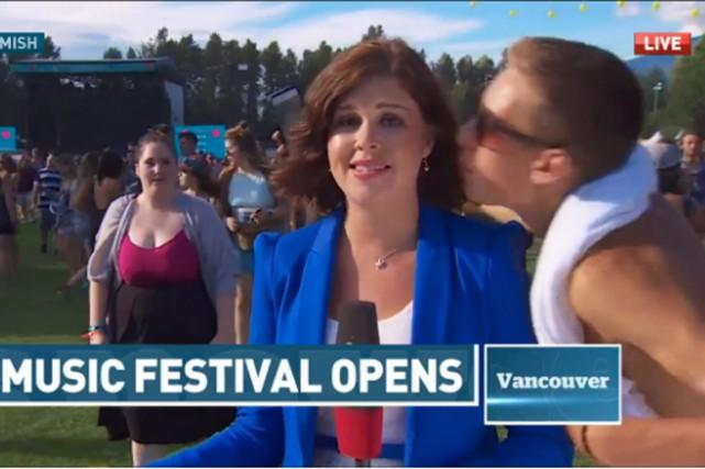 La journaliste parlait en direct du festival de... (Capture d'écran d'une vidéo de CBC)