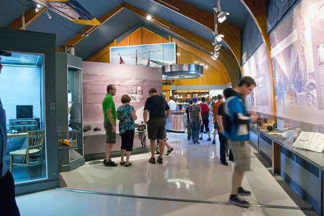 L'exposition permanente Maîtres du ciel et la temporaire... (Photo fournie par le Musée de la Défense aérienne de Bagotville)