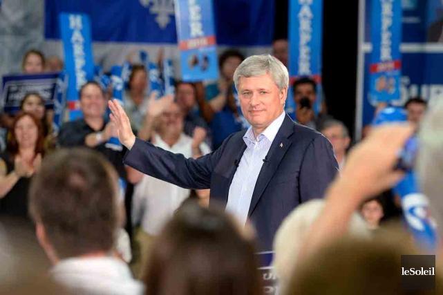 Stephen Harper était de nouveau à Québechier après-midi,... (Le Soleil, Jean-Marie Villeneuve)
